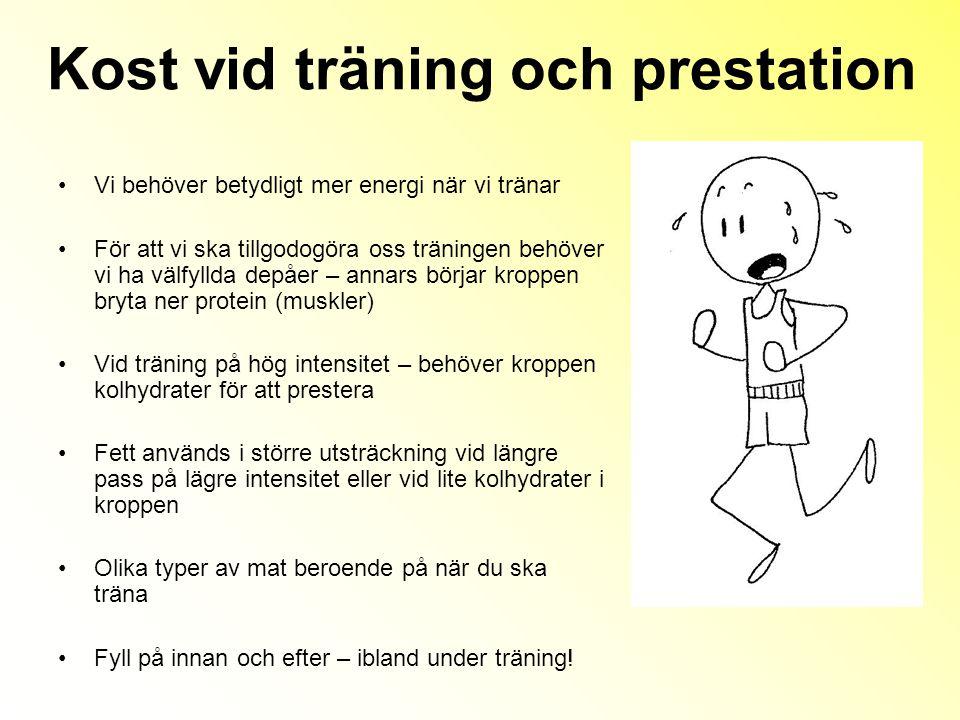 Kost vid träning och prestation