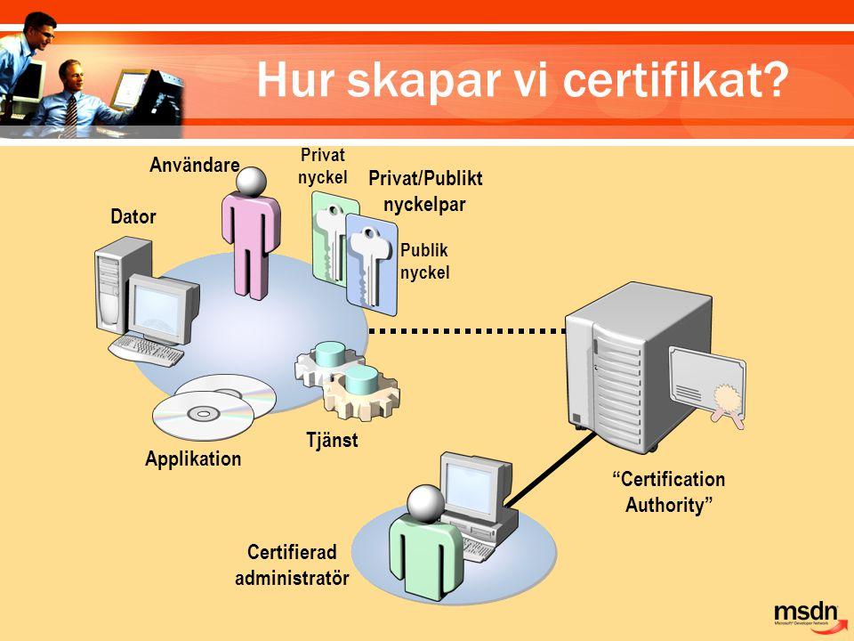 Hur skapar vi certifikat