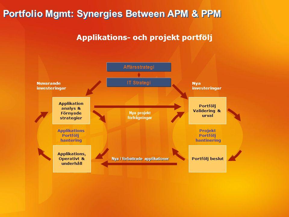 Applikations- och projekt portfölj