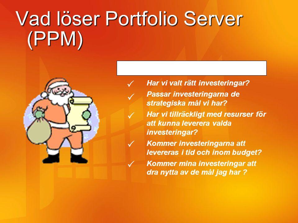 Vad löser Portfolio Server (PPM)