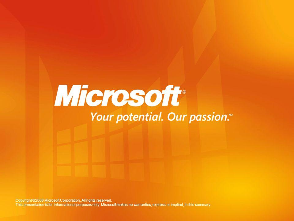 © 2006 Microsoft Corporation