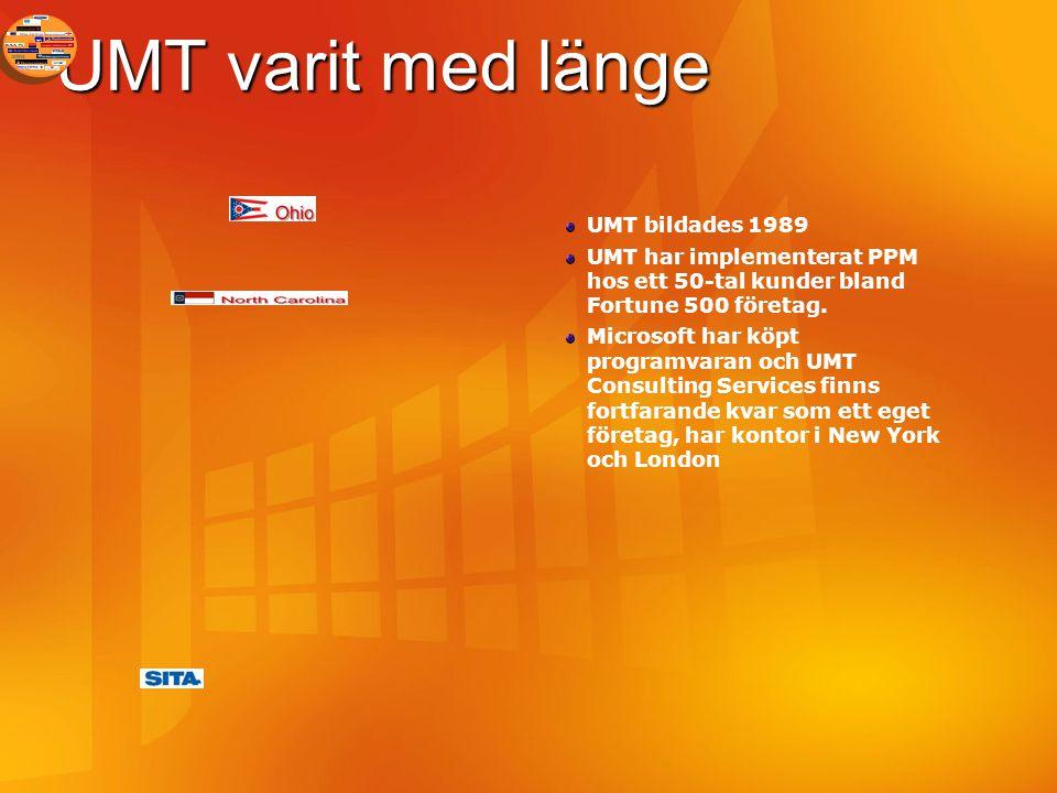 UMT varit med länge UMT bildades 1989