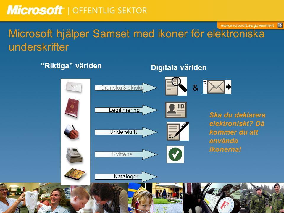 Microsoft hjälper Samset med ikoner för elektroniska underskrifter