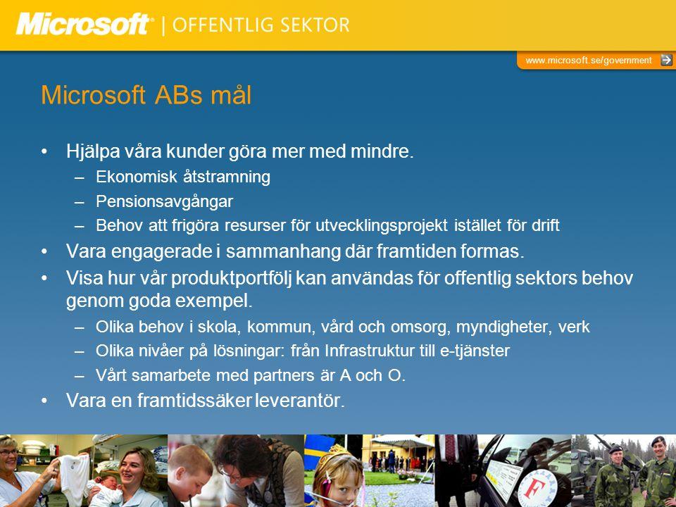 Microsoft ABs mål Hjälpa våra kunder göra mer med mindre.
