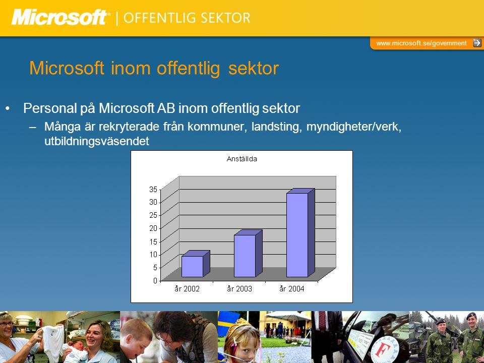 Microsoft inom offentlig sektor