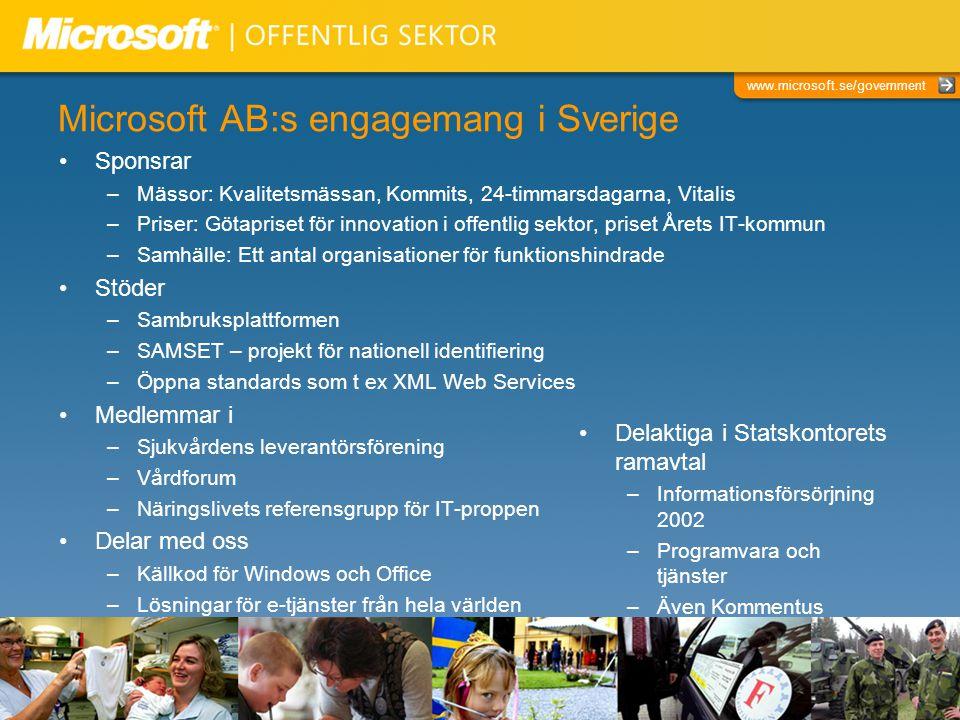 Microsoft AB:s engagemang i Sverige