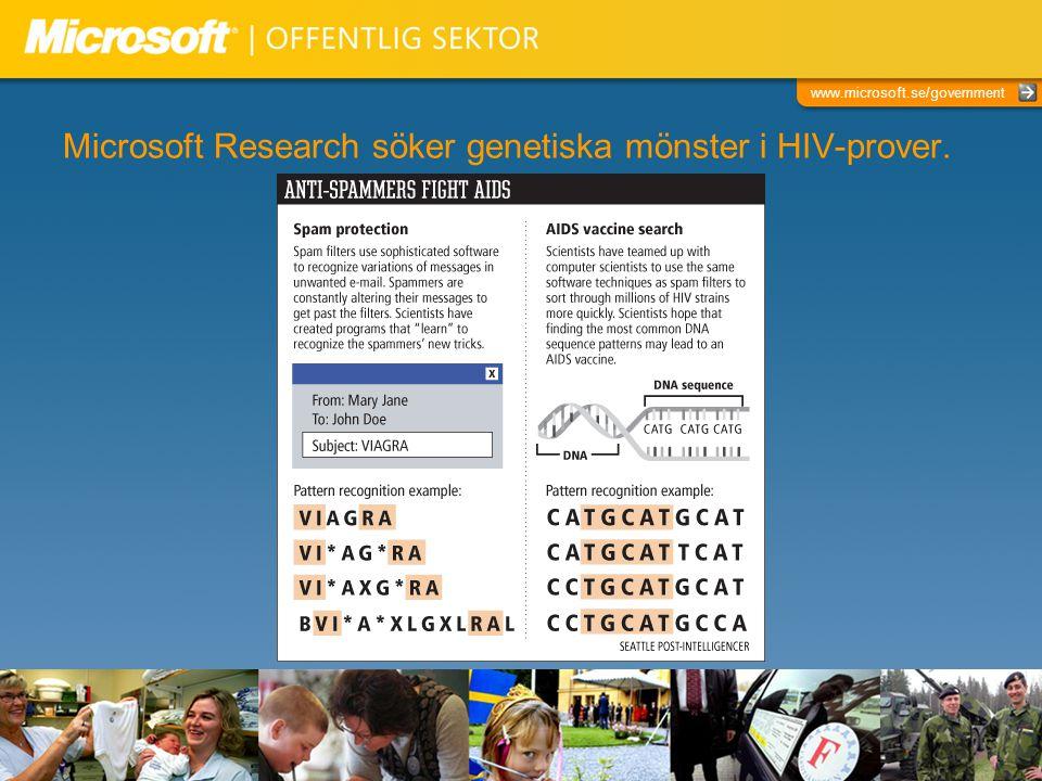 Microsoft Research söker genetiska mönster i HIV-prover.