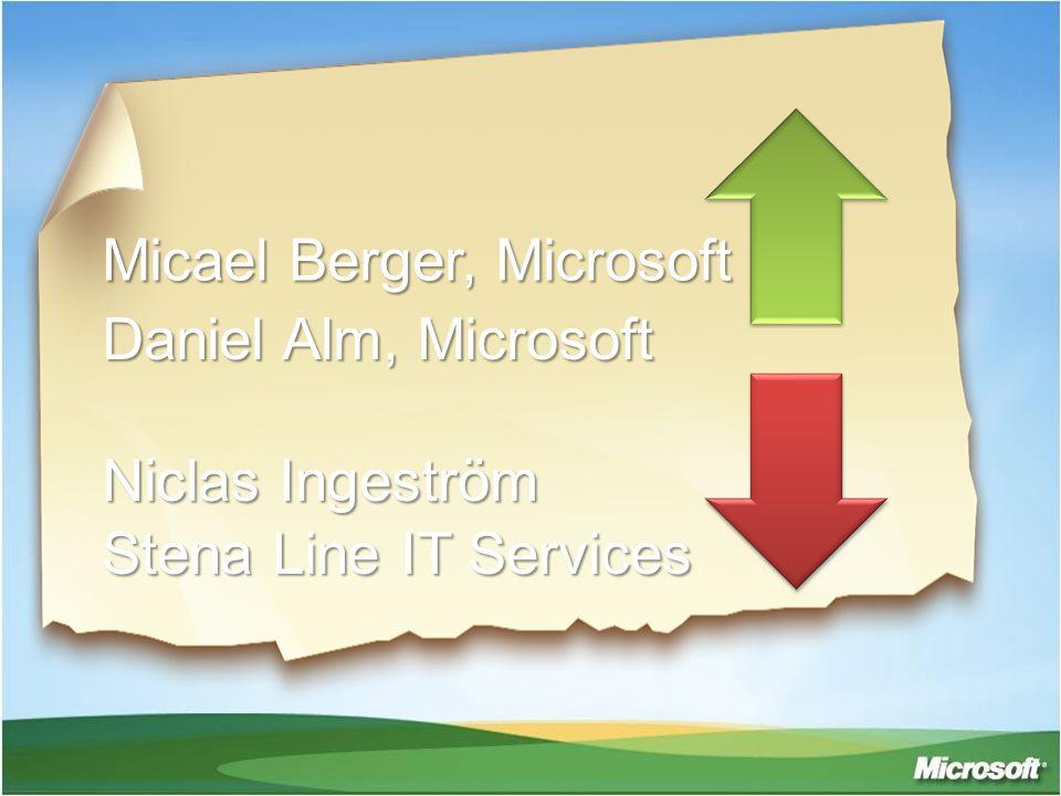 Micael Berger, Microsoft Daniel Alm, Microsoft Niclas Ingeström