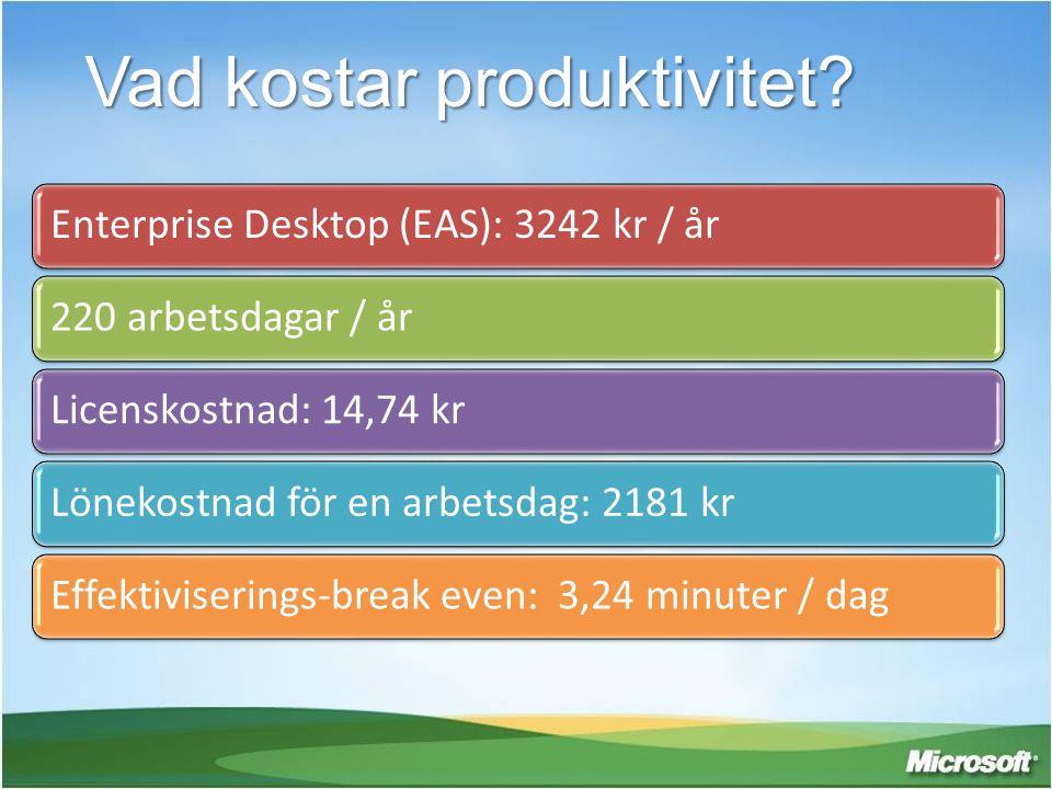 Vad kostar produktivitet