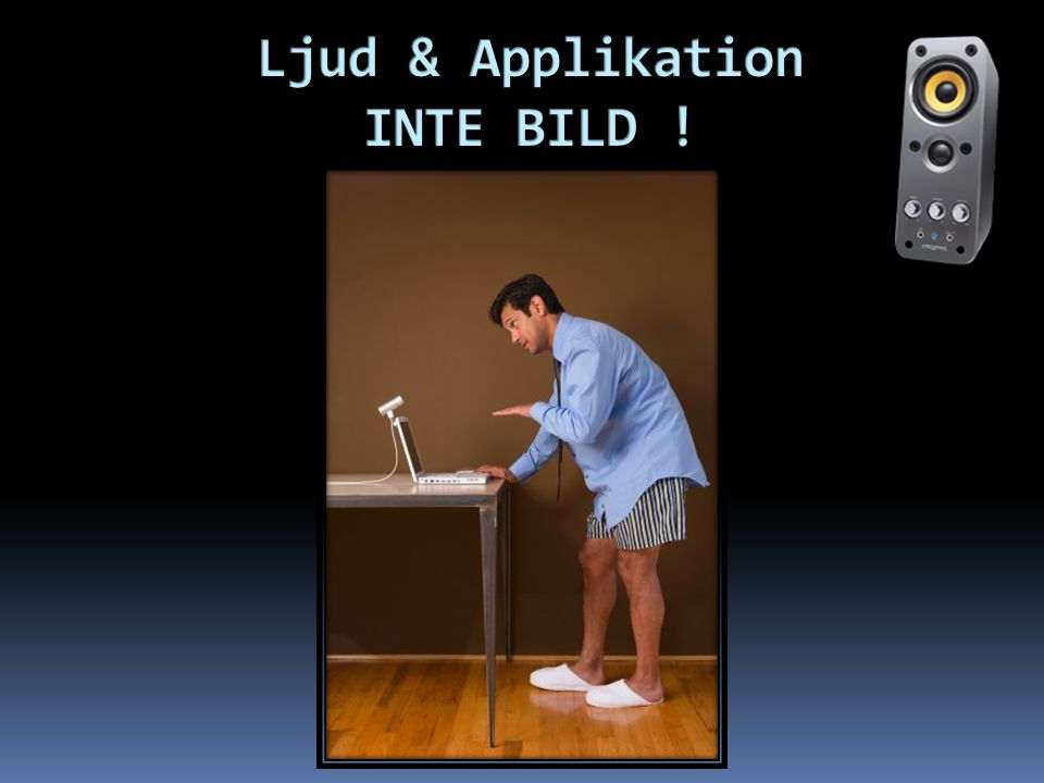 Ljud & Applikation INTE BILD !