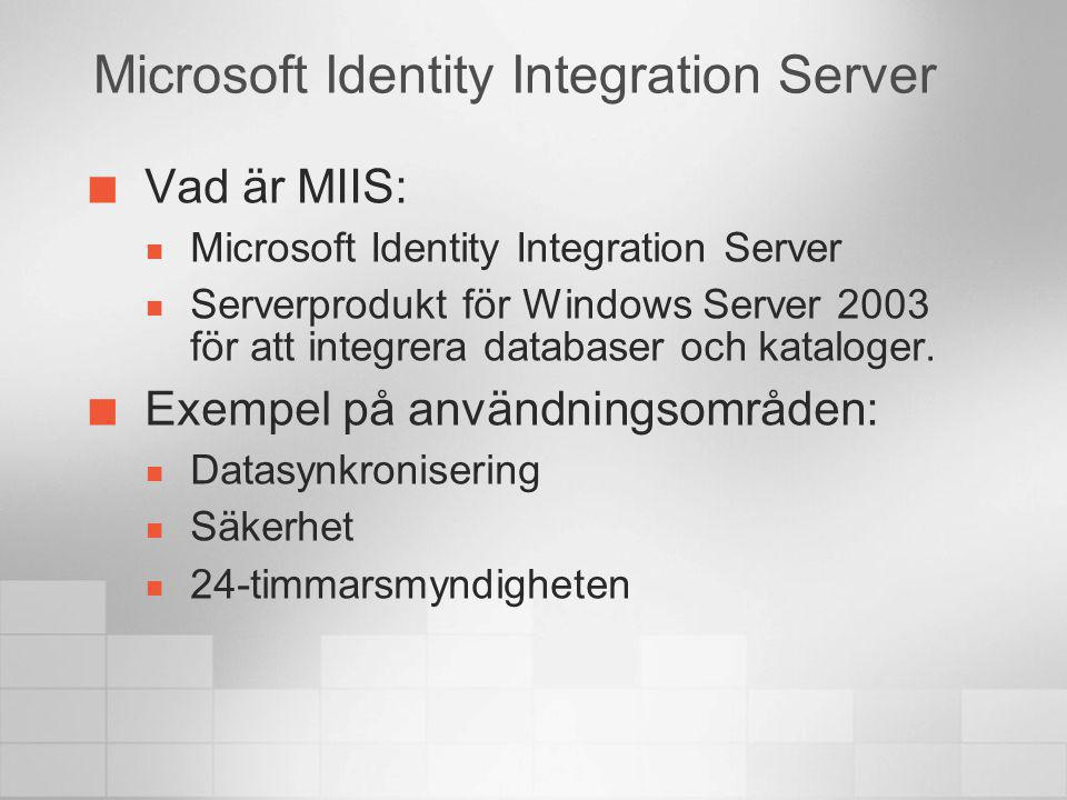 Microsoft Identity Integration Server