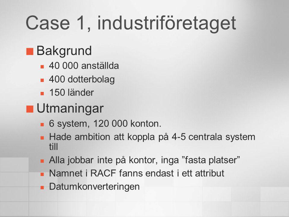 Case 1, industriföretaget