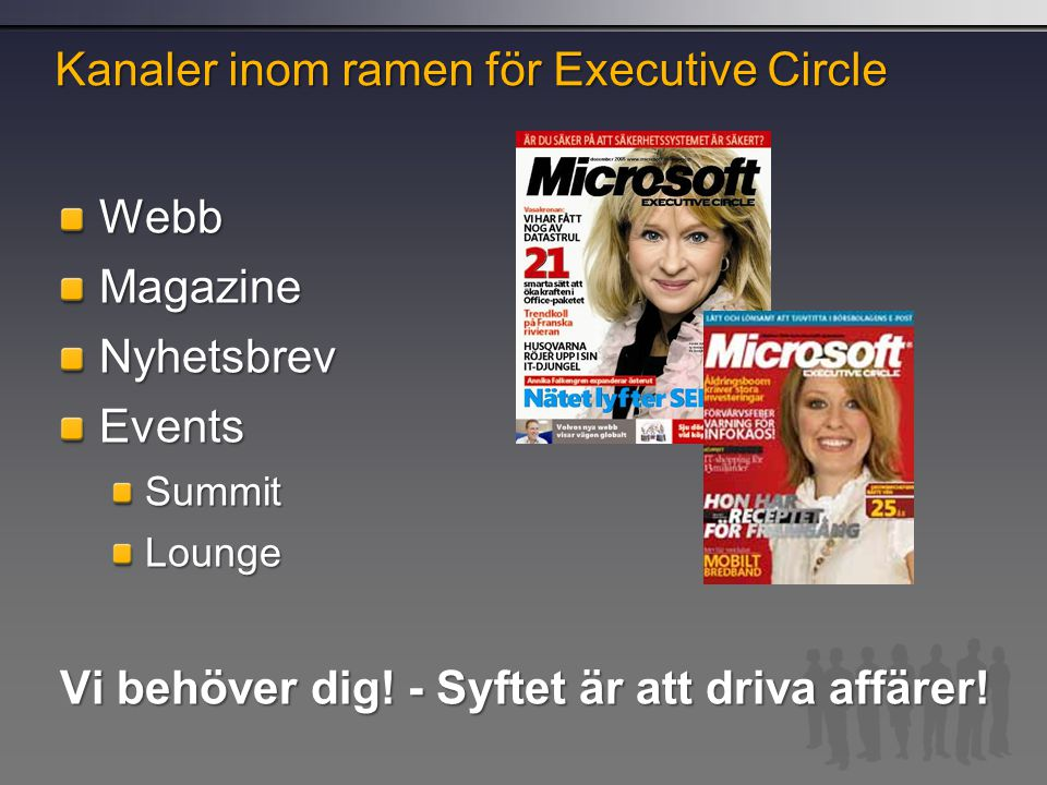 Kanaler inom ramen för Executive Circle