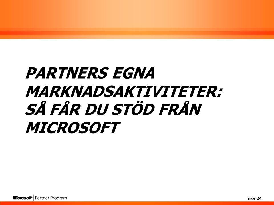 Partners egna marknadsaktiviteter: Så får du stöd från Microsoft
