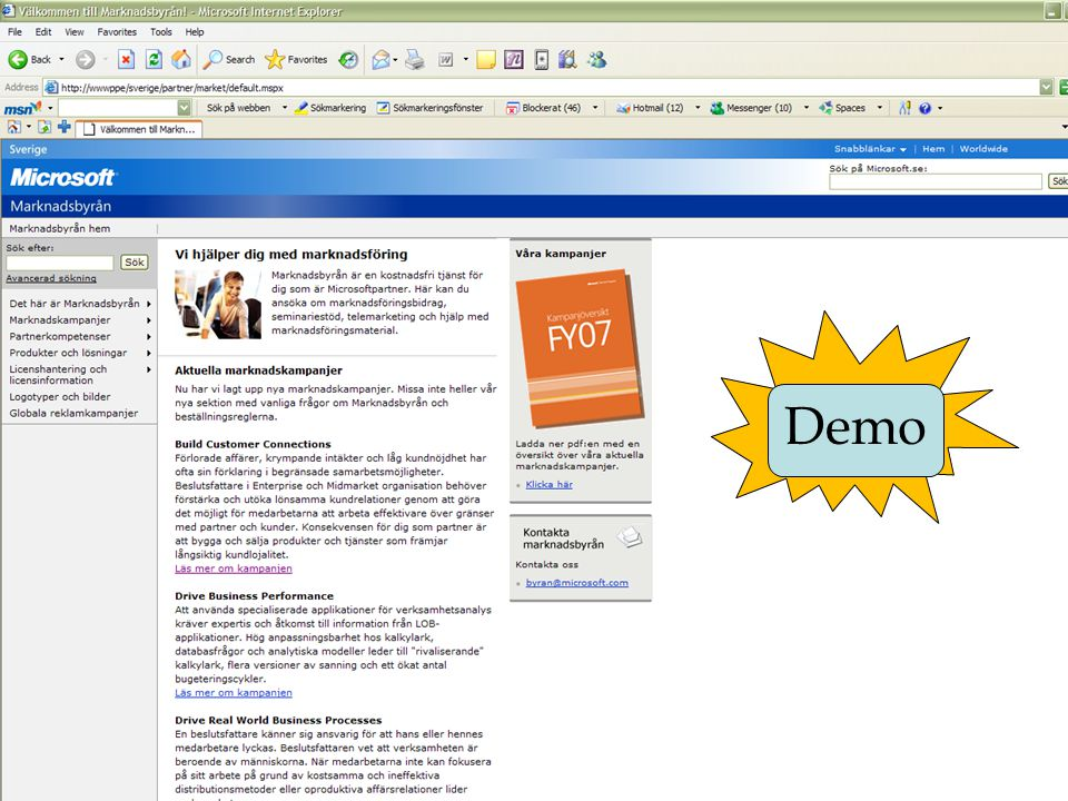 Demo DEMO: Build Customer Connections Besöksbokningspaket