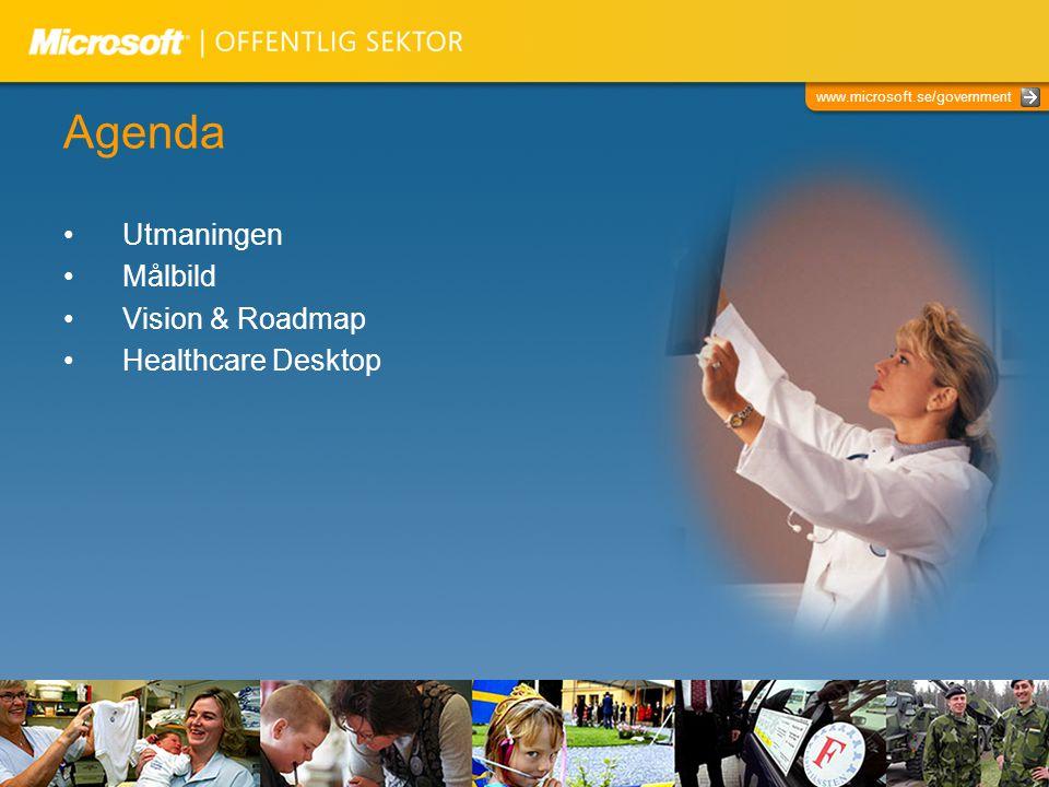 Agenda Utmaningen Målbild Vision & Roadmap Healthcare Desktop