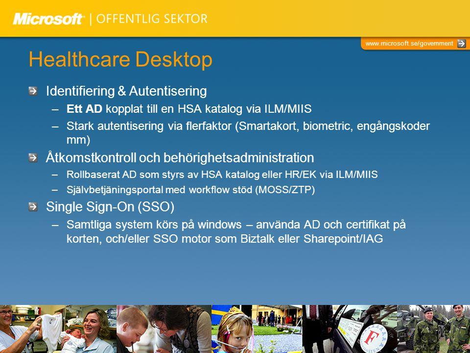 Healthcare Desktop Identifiering & Autentisering