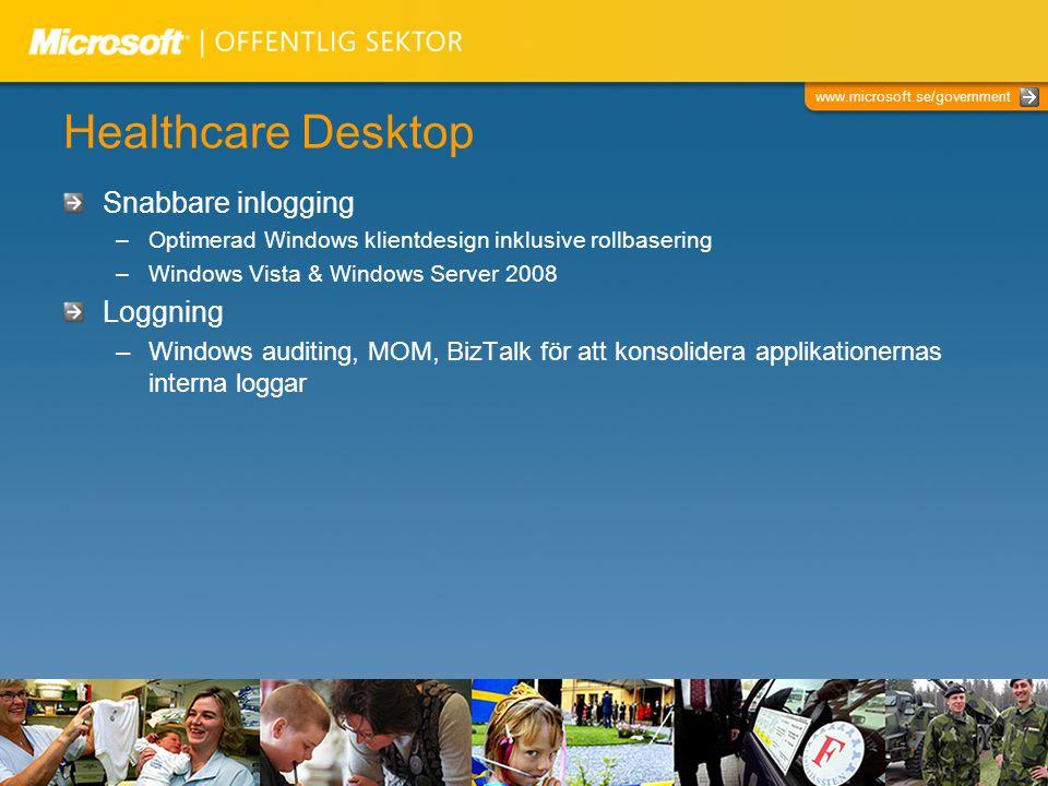 Healthcare Desktop Snabbare inlogging Loggning