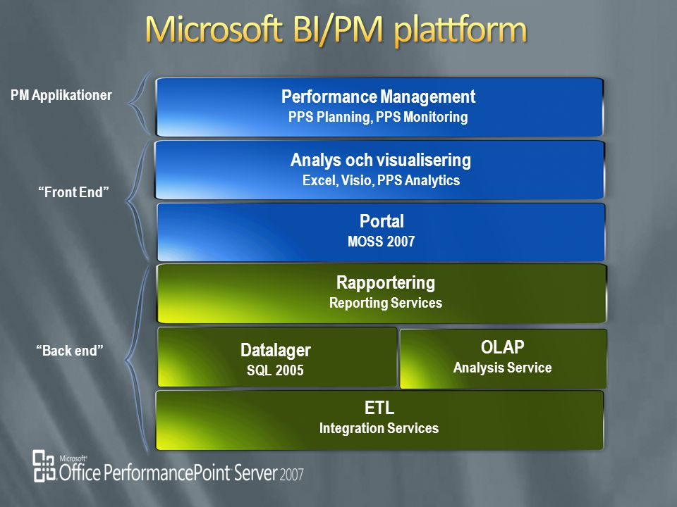 Microsoft BI/PM plattform