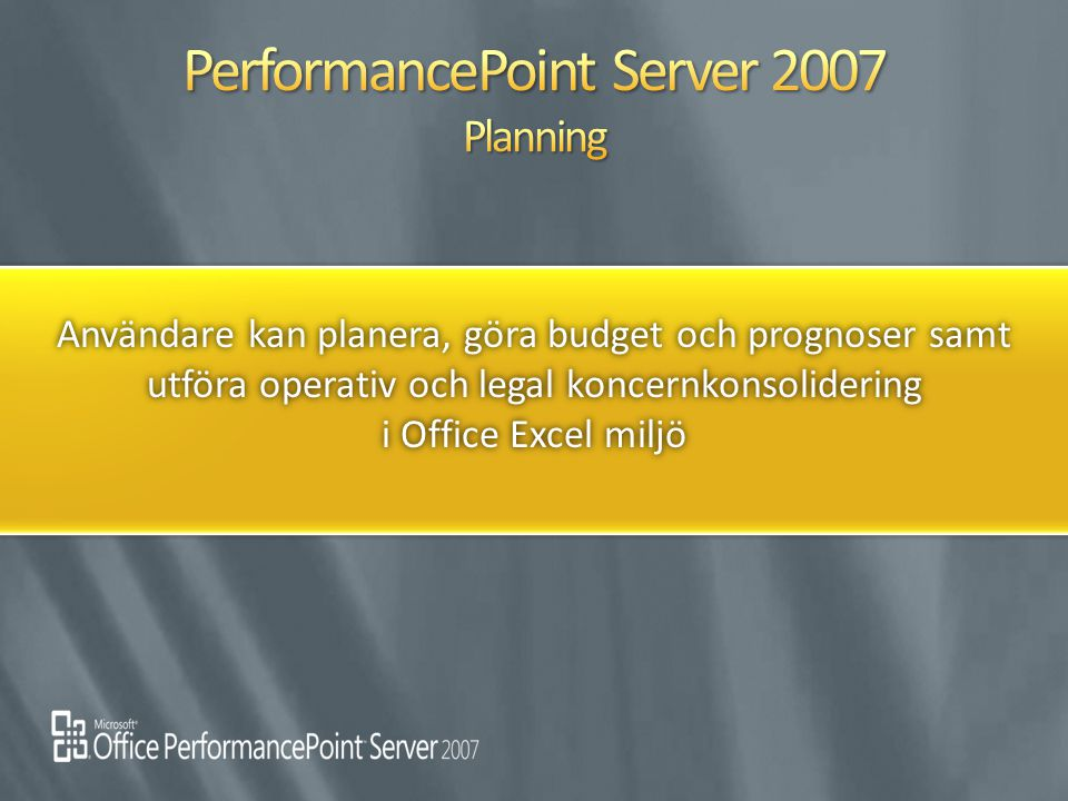 PerformancePoint Server 2007 Planning