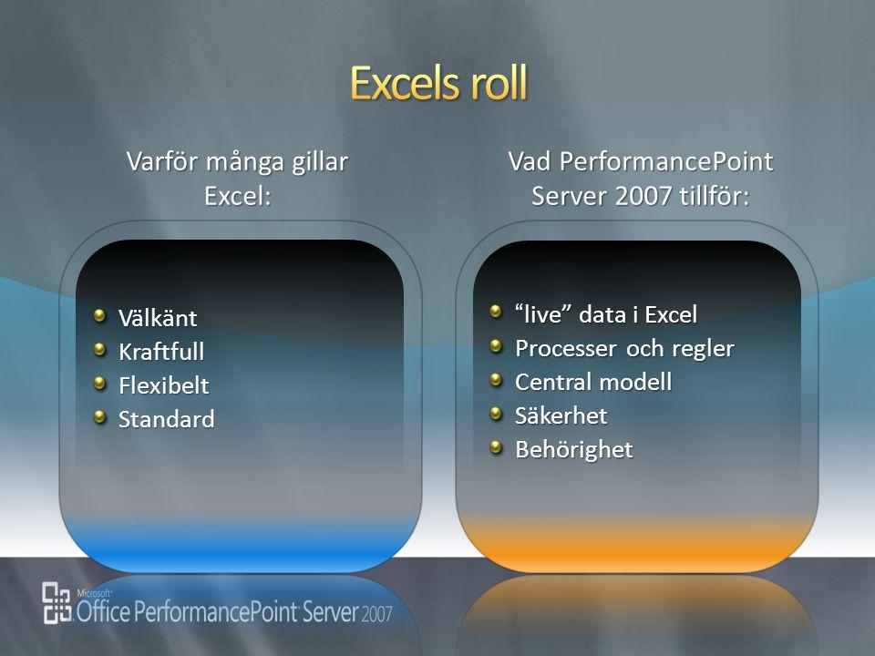 Excels roll Varför många gillar Excel: