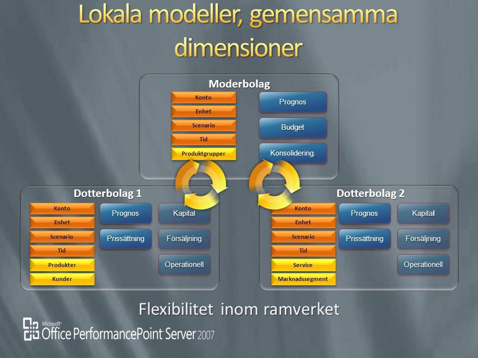 Lokala modeller, gemensamma dimensioner