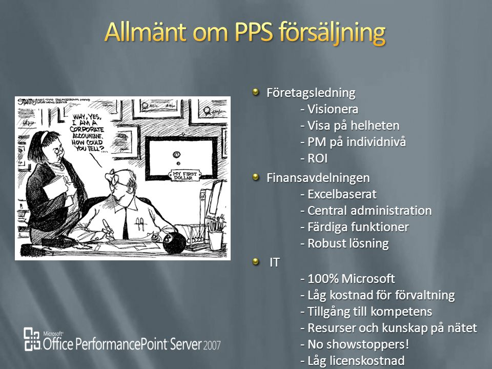 Allmänt om PPS försäljning