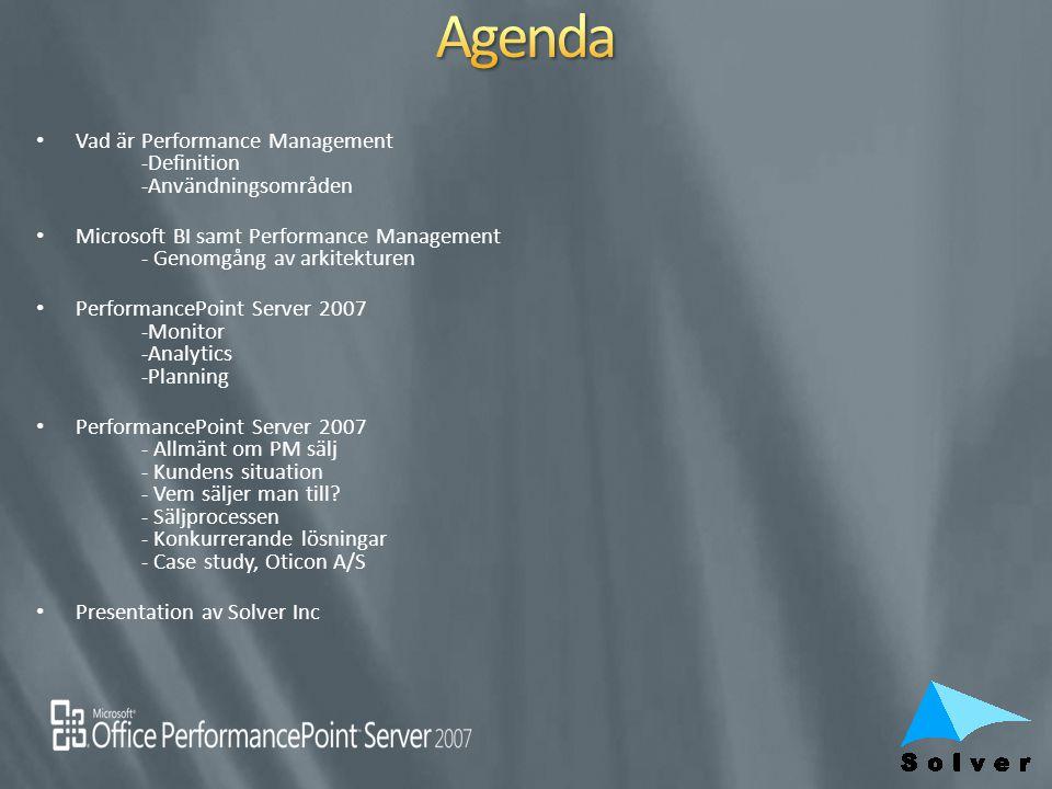 Agenda Vad är Performance Management -Definition -Användningsområden