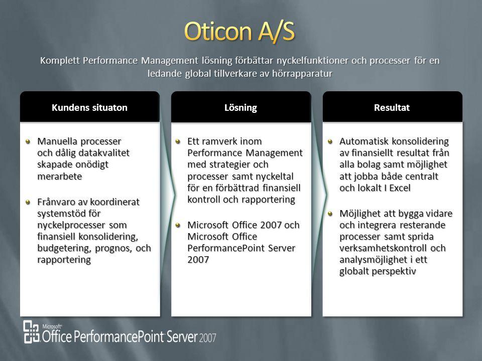 Oticon A/S Komplett Performance Management lösning förbättar nyckelfunktioner och processer för en ledande global tillverkare av hörrapparatur.