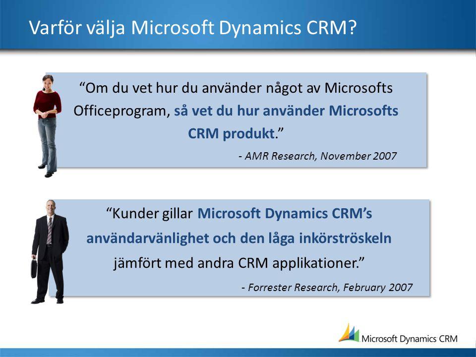 Varför välja Microsoft Dynamics CRM