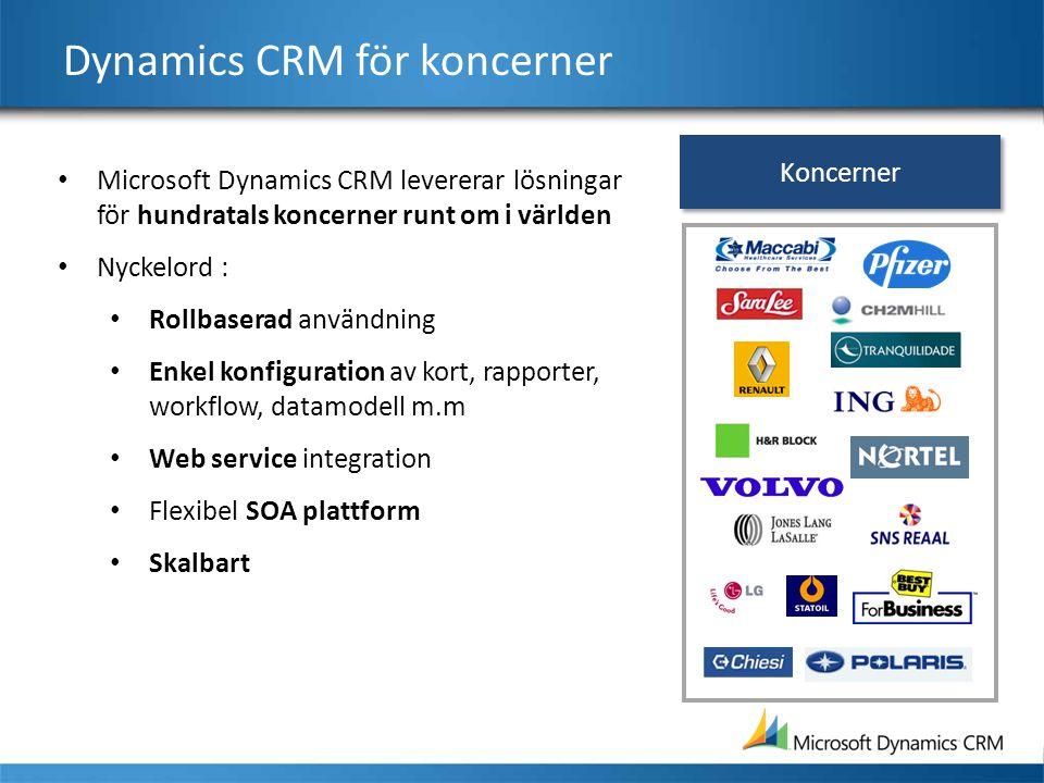 Dynamics CRM för koncerner