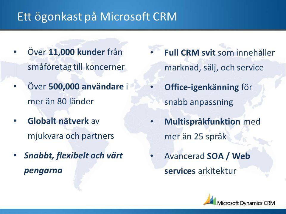 Ett ögonkast på Microsoft CRM