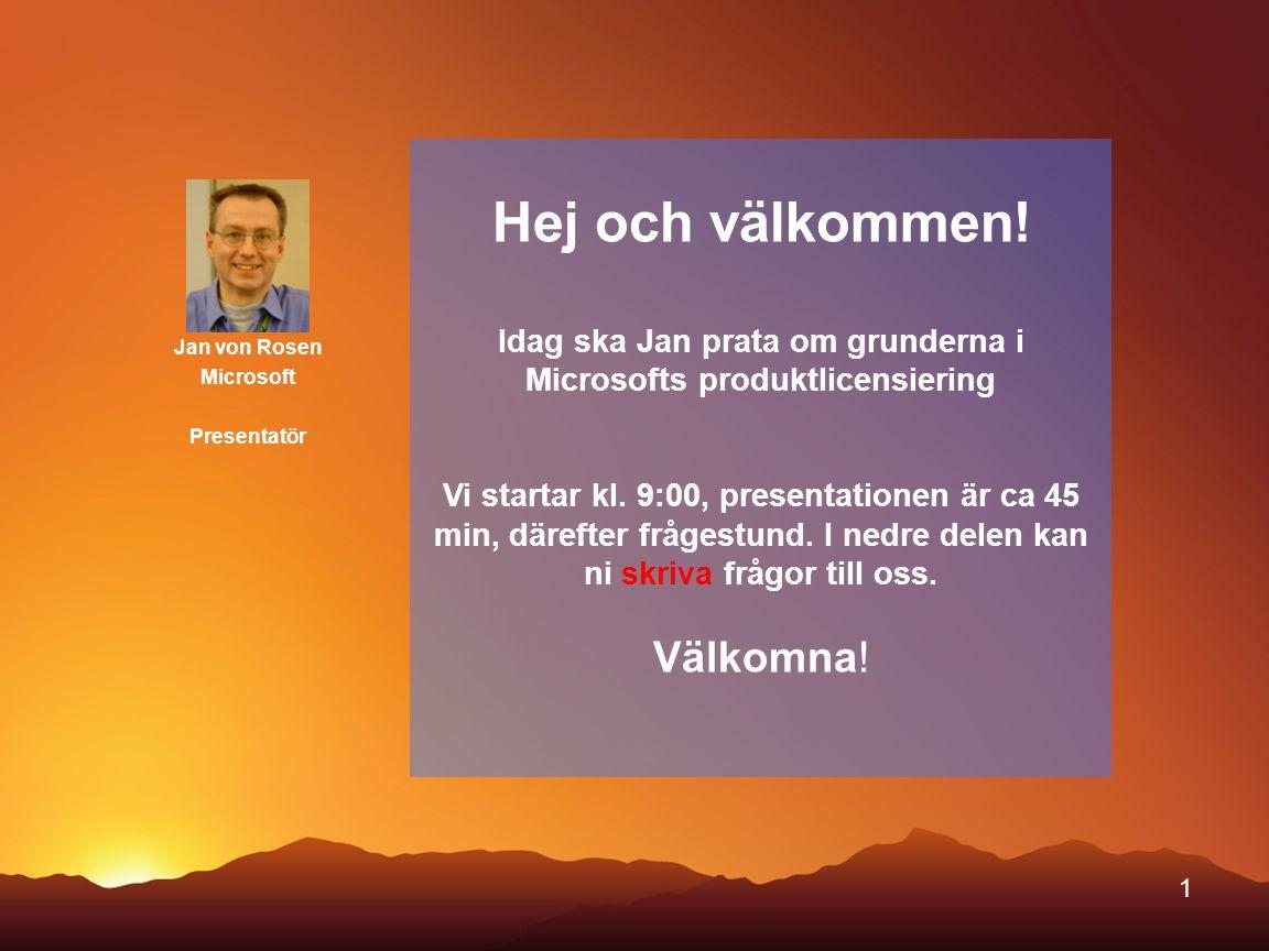 Jan von Rosen Microsoft Presentatör