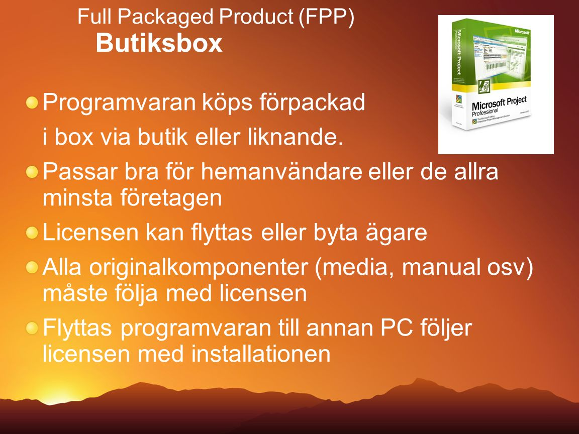 Full Packaged Product (FPP) Butiksbox