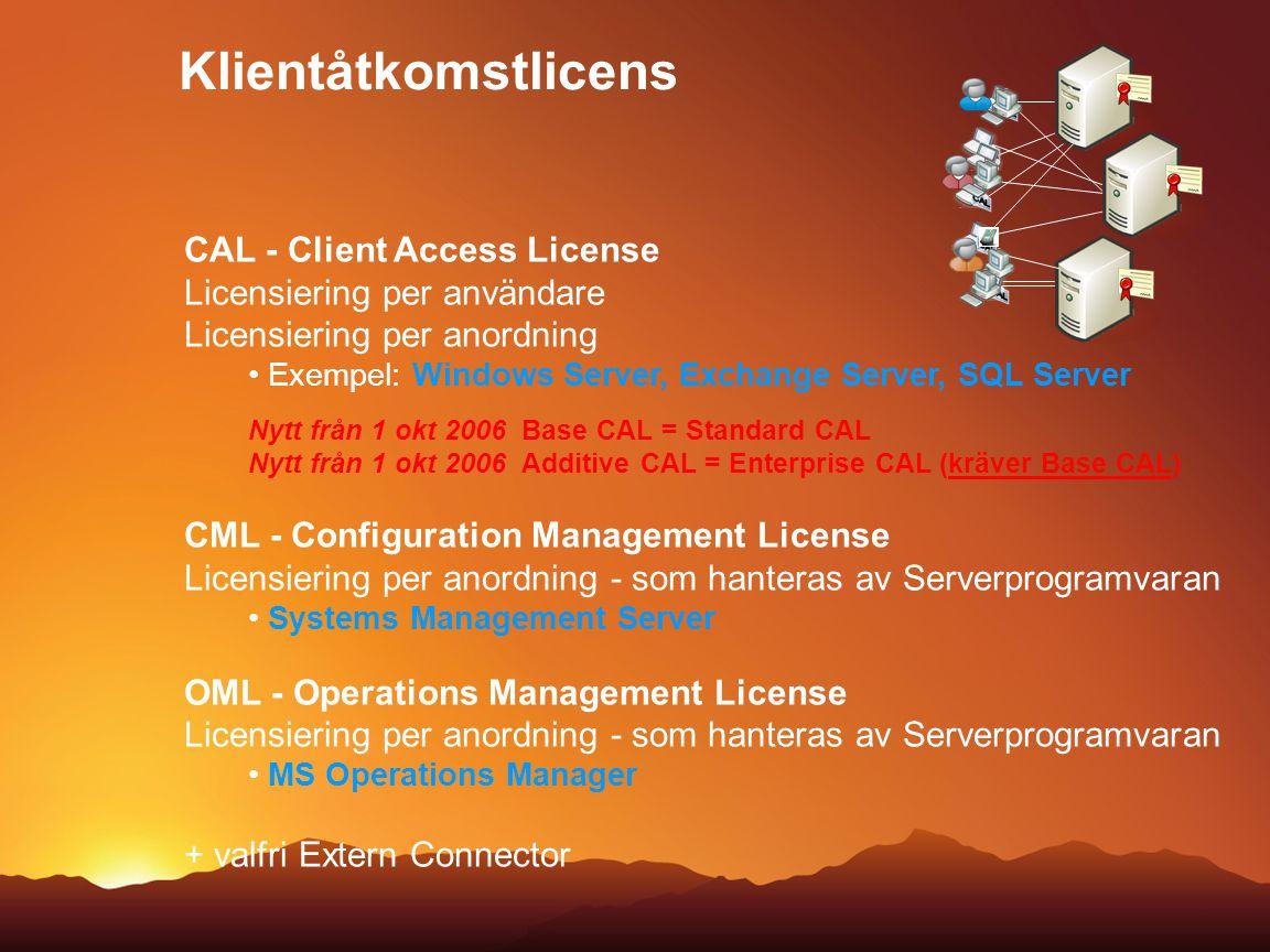 Klientåtkomstlicens CAL CAL - Client Access License