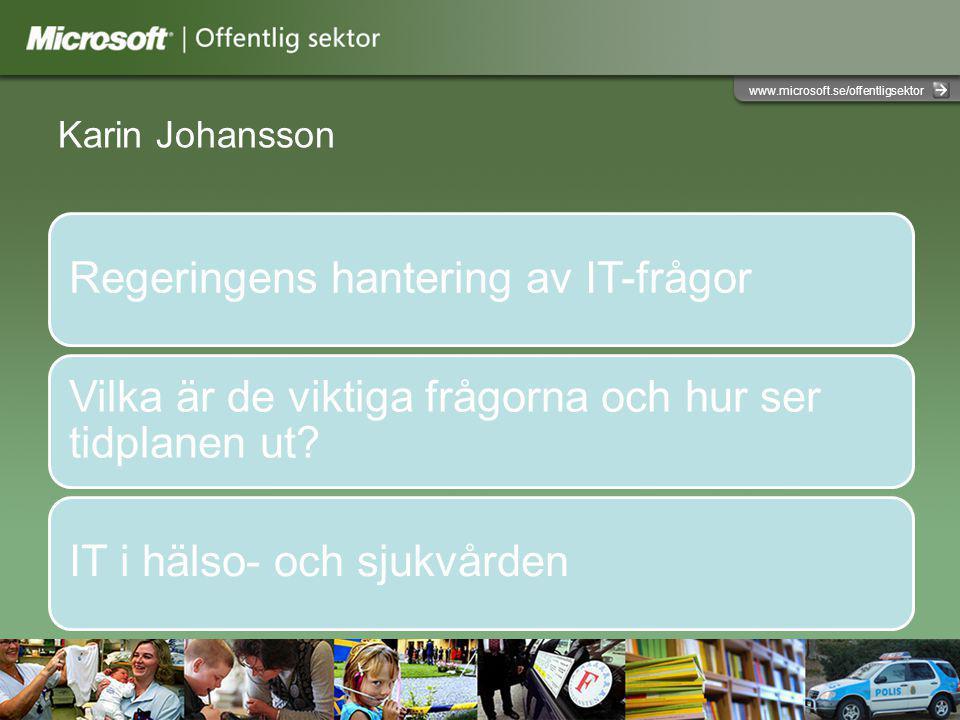 Karin Johansson Regeringens hantering av IT-frågor