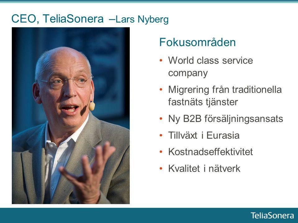 CEO, TeliaSonera –Lars Nyberg
