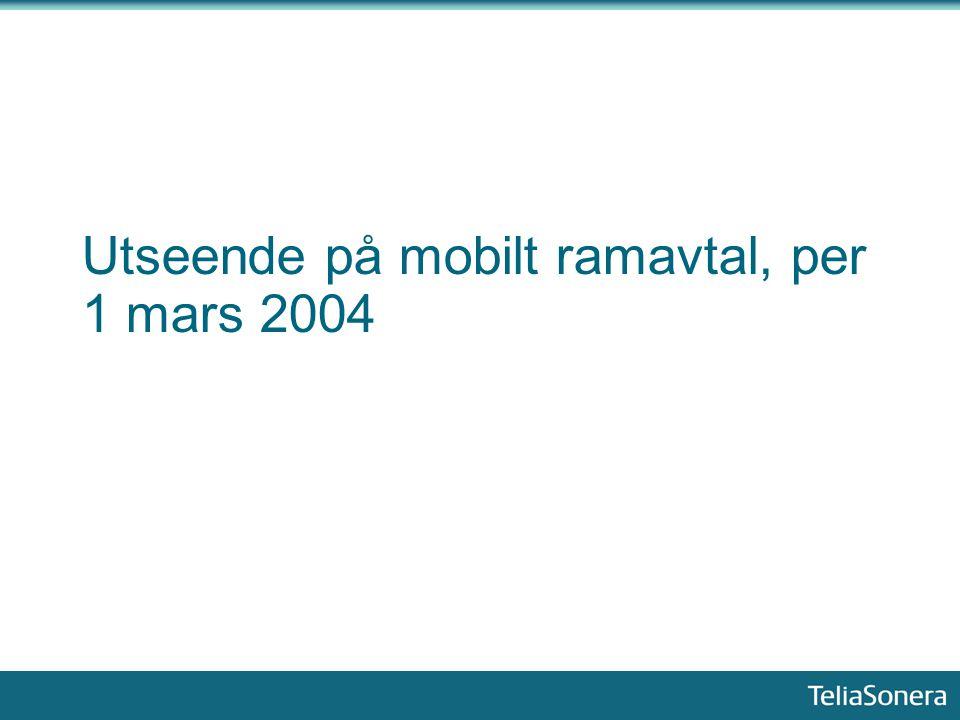 Utseende på mobilt ramavtal, per 1 mars 2004