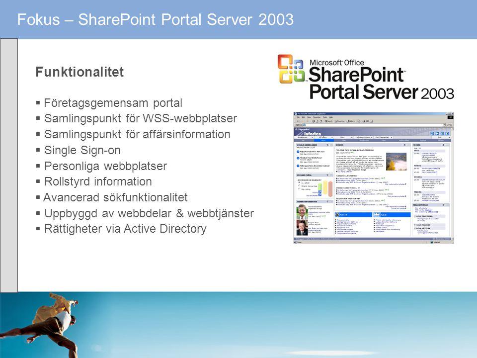 Fokus – SharePoint Portal Server 2003