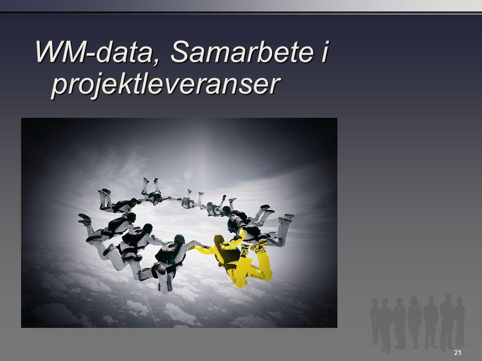 WM-data, Samarbete i projektleveranser