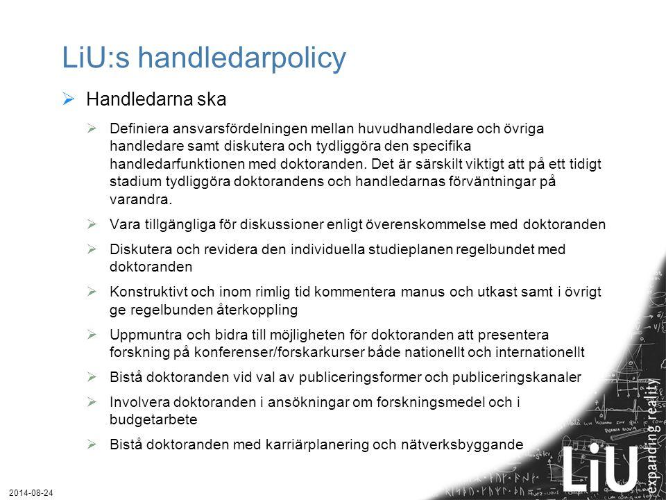 LiU:s handledarpolicy