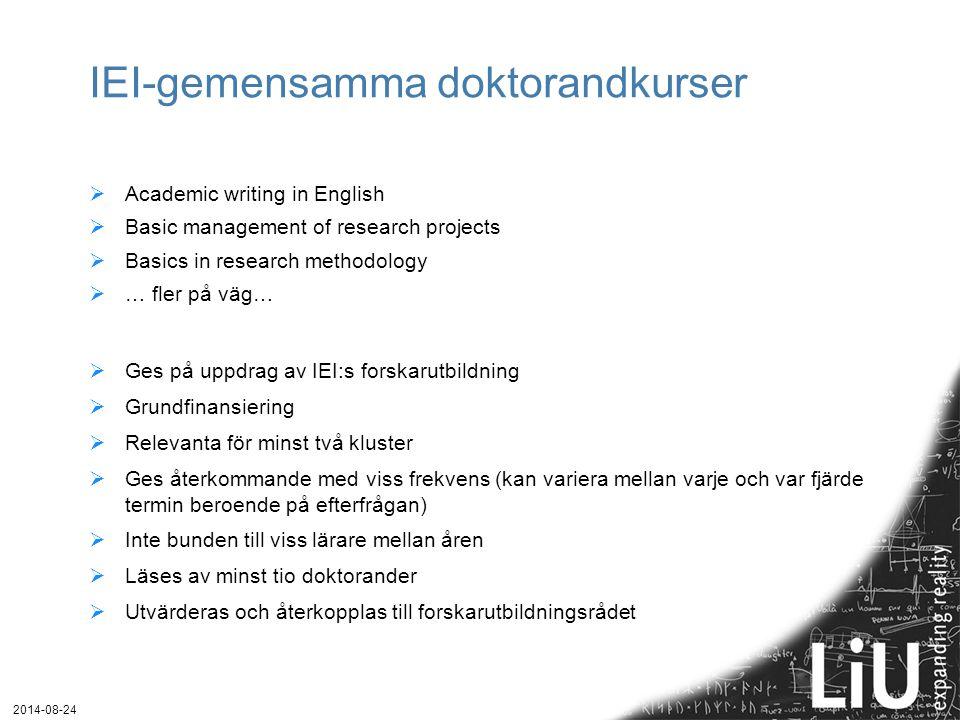 IEI-gemensamma doktorandkurser