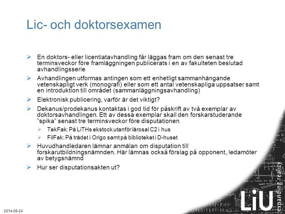 Lic- och doktorsexamen