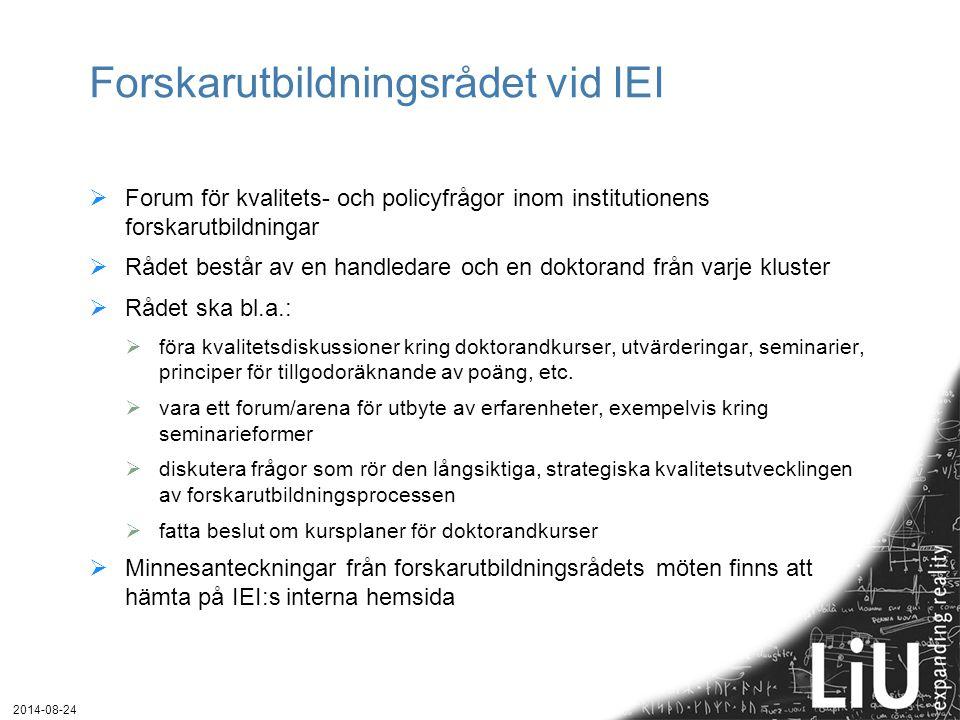 Forskarutbildningsrådet vid IEI