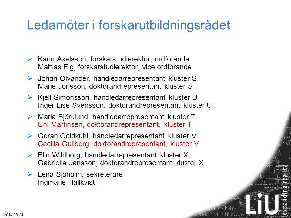 Ledamöter i forskarutbildningsrådet