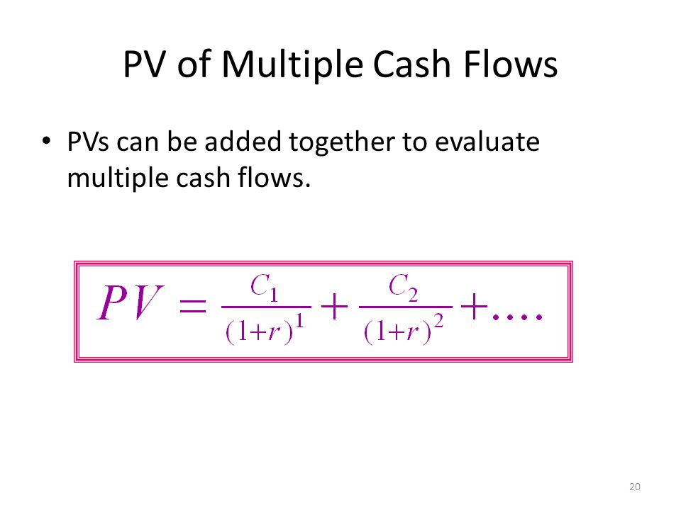 PV of Multiple Cash Flows