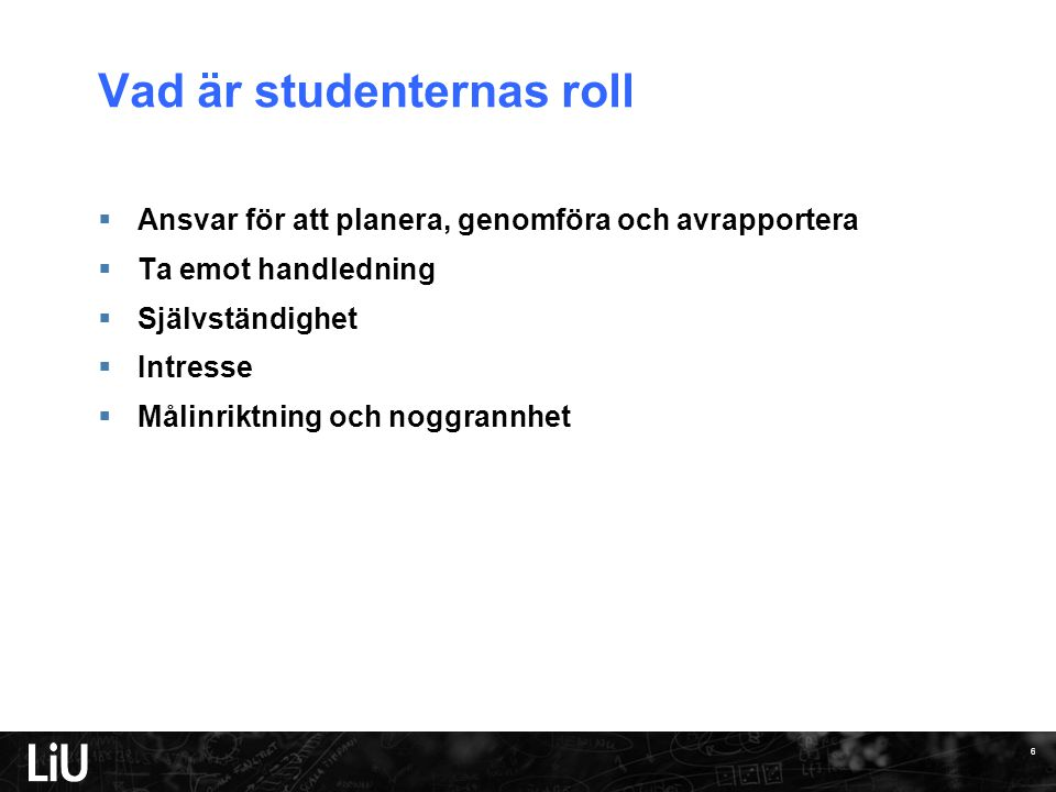 Vad är studenternas roll