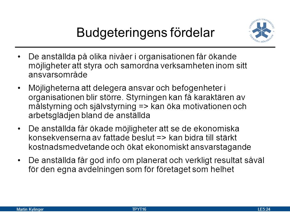 Budgeteringens fördelar