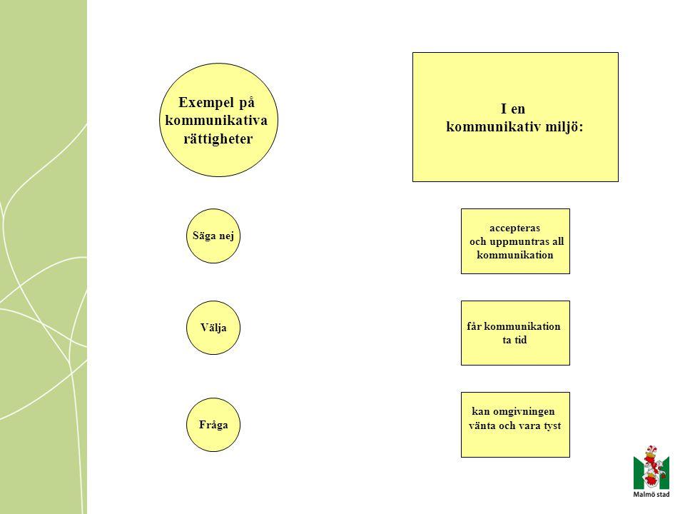 I en kommunikativ miljö: Exempel på kommunikativa rättigheter