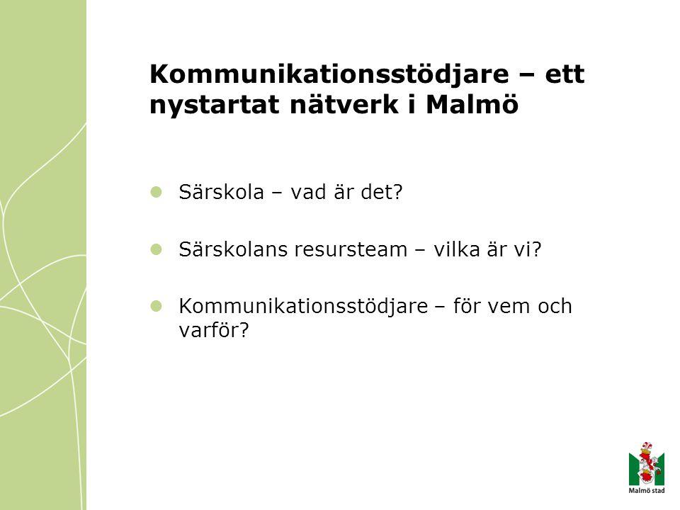 Kommunikationsstödjare – ett nystartat nätverk i Malmö